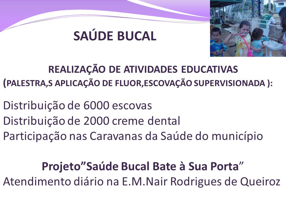 REALIZAÇÃO DE ATIVIDADES EDUCATIVAS