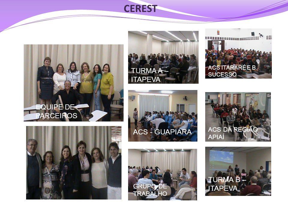 CEREST TURMA A –ITAPEVA EQUIPE DE PARCEIROS ACS - GUAPIARA