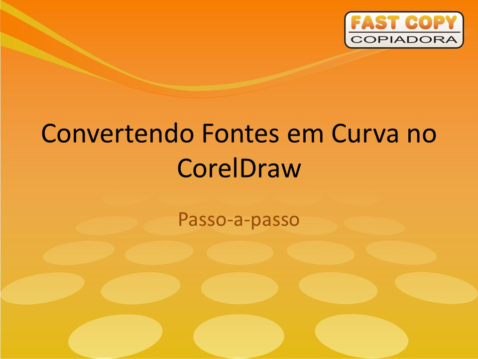 Convertendo Fontes em Curva no CorelDraw