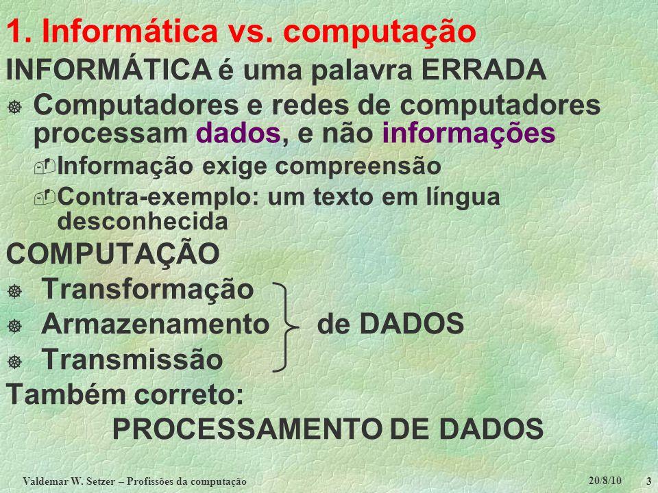 1. Informática vs. computação