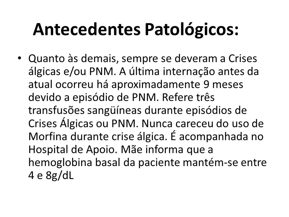 Antecedentes Patológicos: