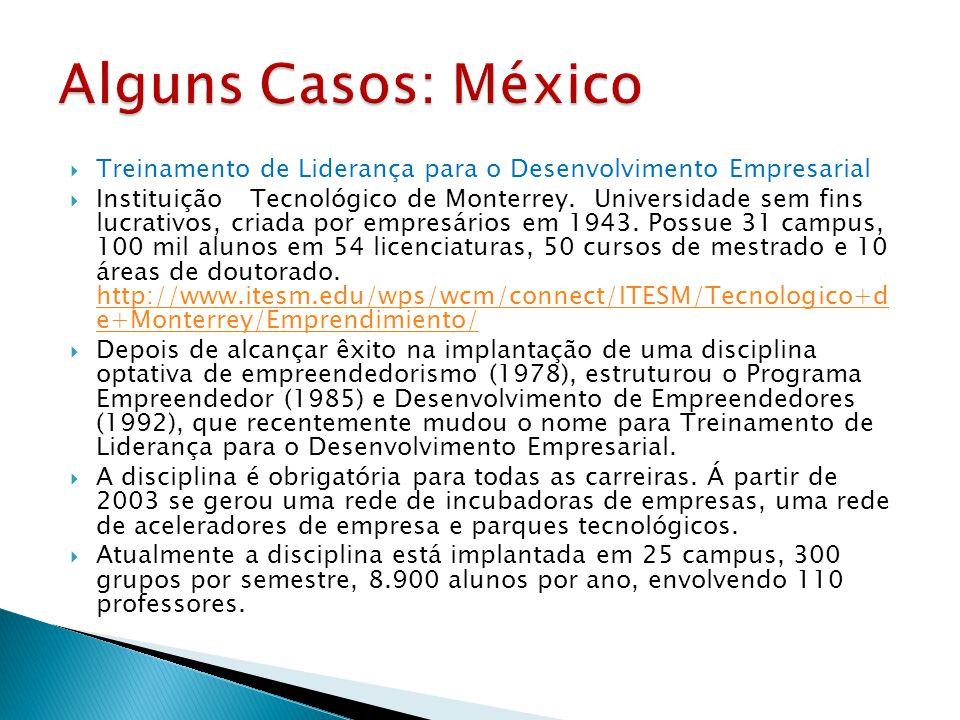 Alguns Casos: México Treinamento de Liderança para o Desenvolvimento Empresarial.