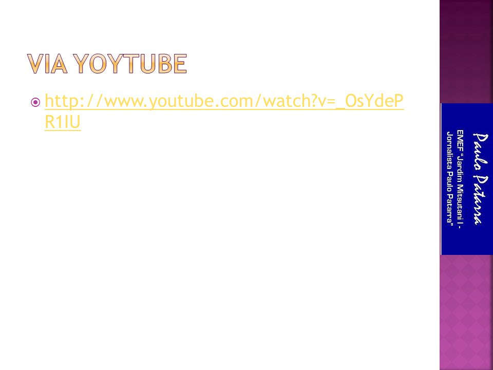 Via yoytube http://www.youtube.com/watch v=_OsYdeP R1IU