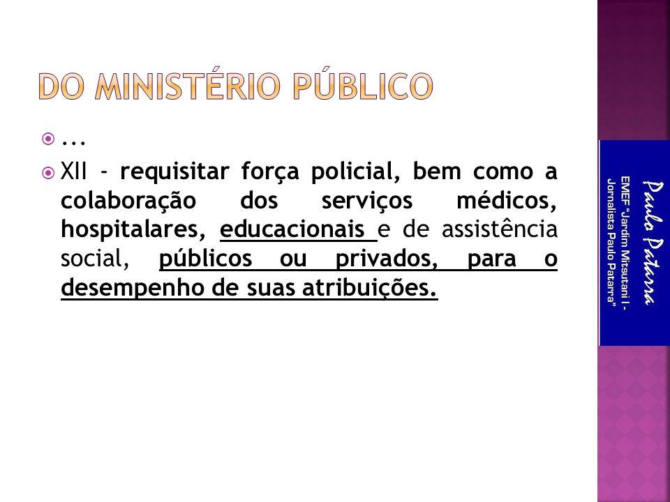Do Ministério Público ...