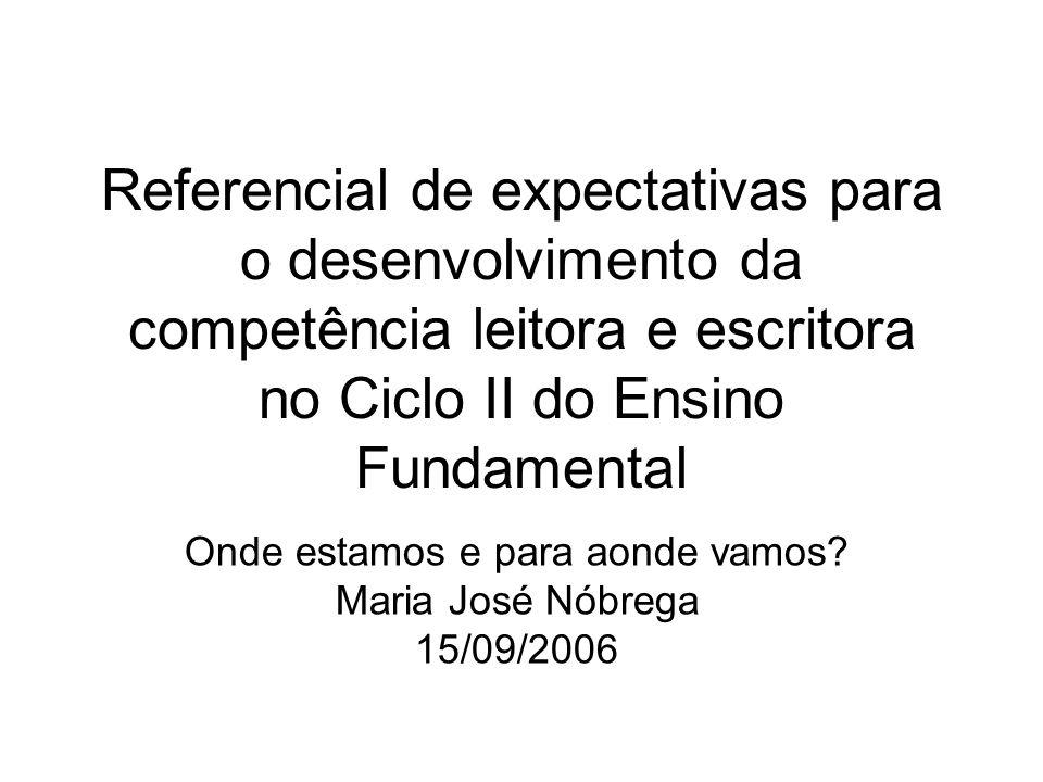 Onde estamos e para aonde vamos Maria José Nóbrega 15/09/2006
