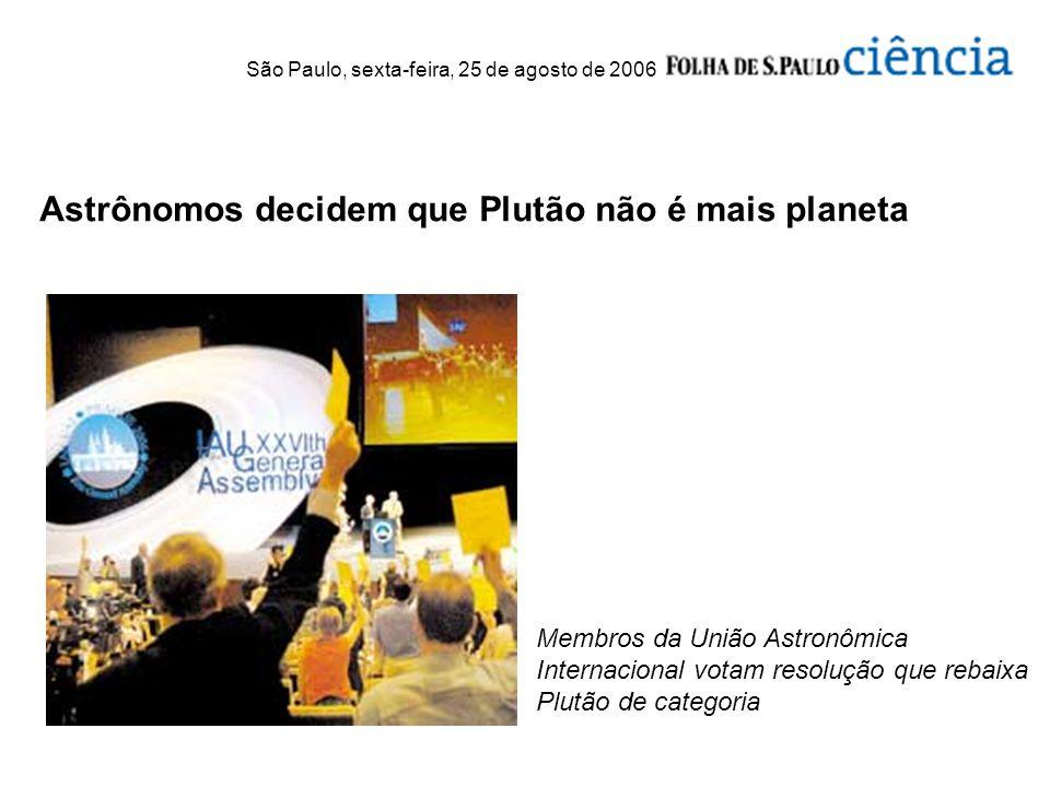 Astrônomos decidem que Plutão não é mais planeta