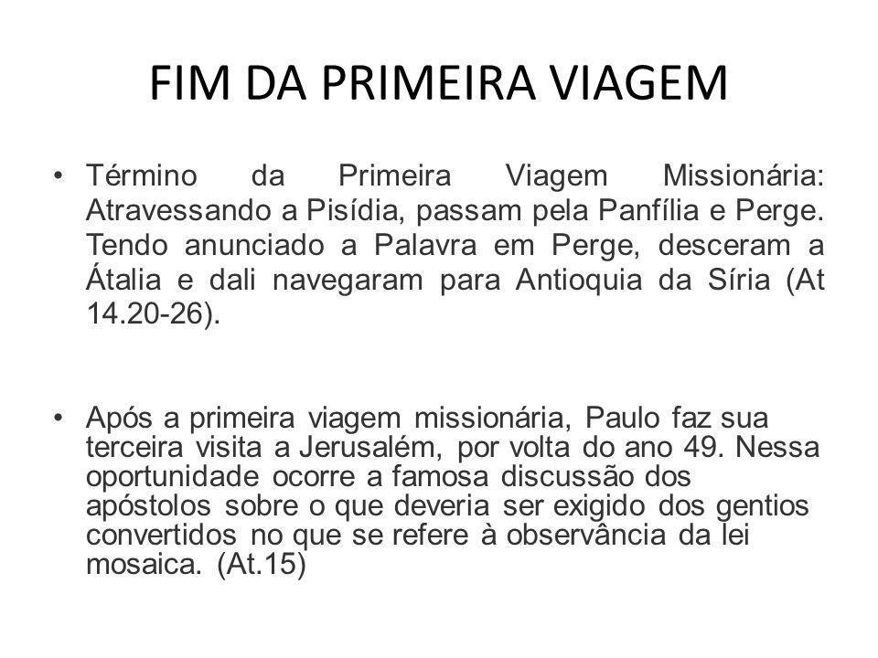 FIM DA PRIMEIRA VIAGEM