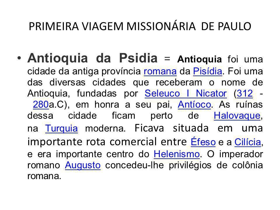 PRIMEIRA VIAGEM MISSIONÁRIA DE PAULO