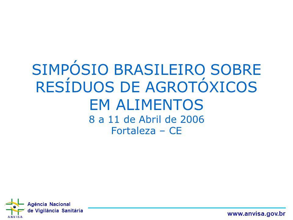 SIMPÓSIO BRASILEIRO SOBRE RESÍDUOS DE AGROTÓXICOS EM ALIMENTOS 8 a 11 de Abril de 2006 Fortaleza – CE