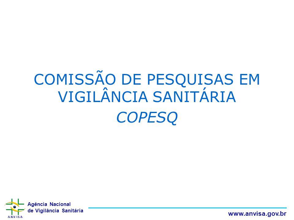 COMISSÃO DE PESQUISAS EM VIGILÂNCIA SANITÁRIA COPESQ