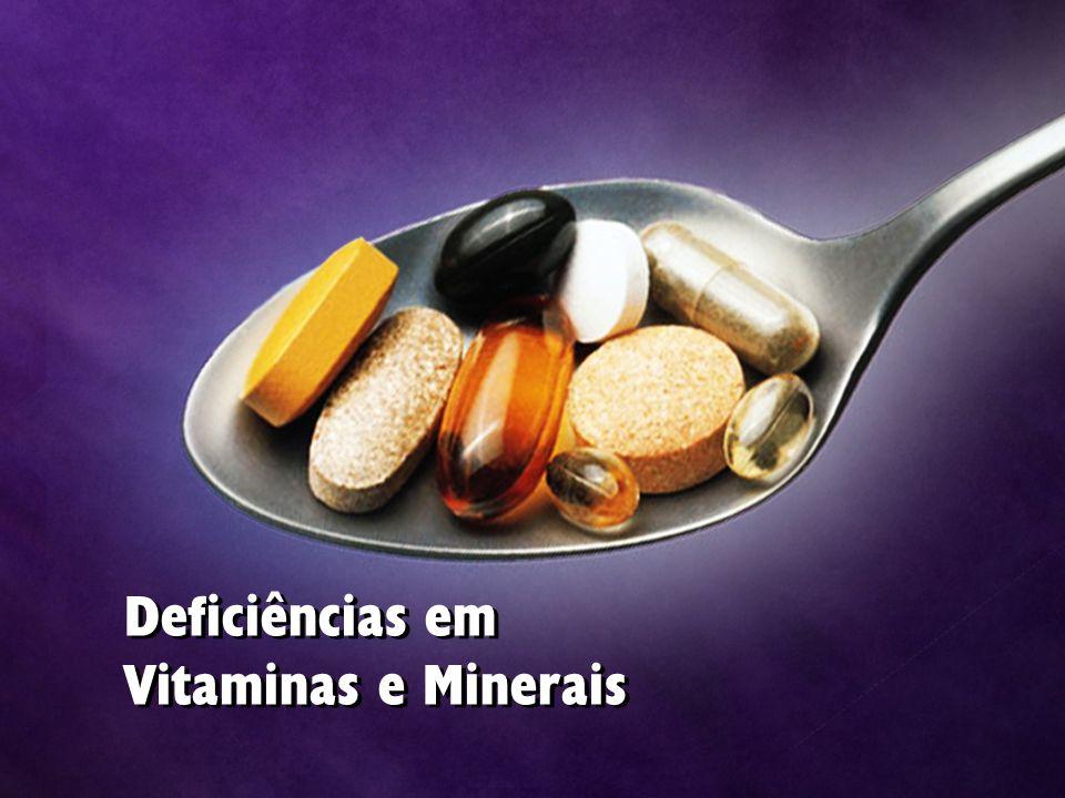 Deficiências em Vitaminas e Minerais