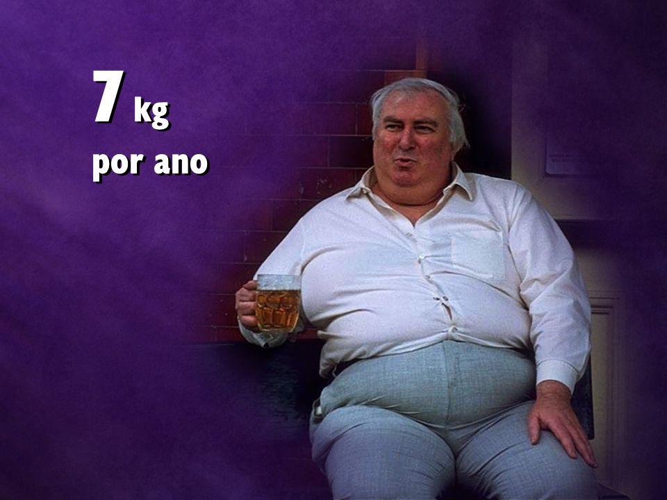 7 kg por ano