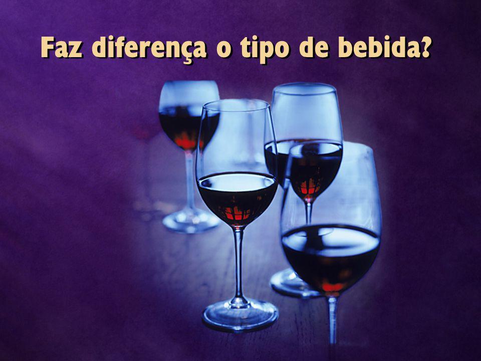 Faz diferença o tipo de bebida