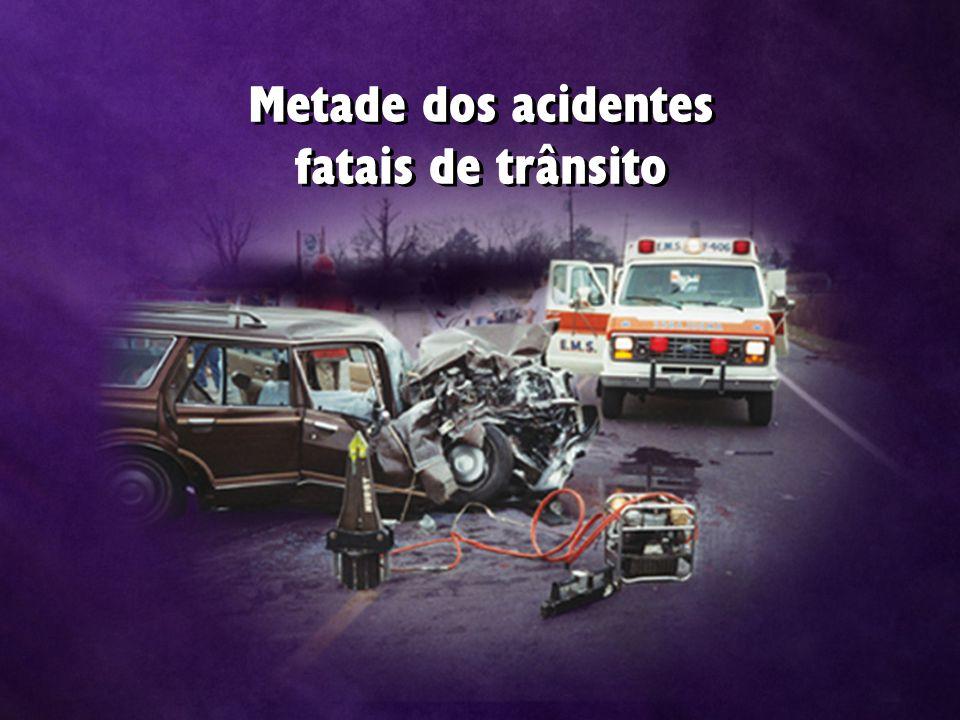 Metade dos acidentes fatais de trânsito