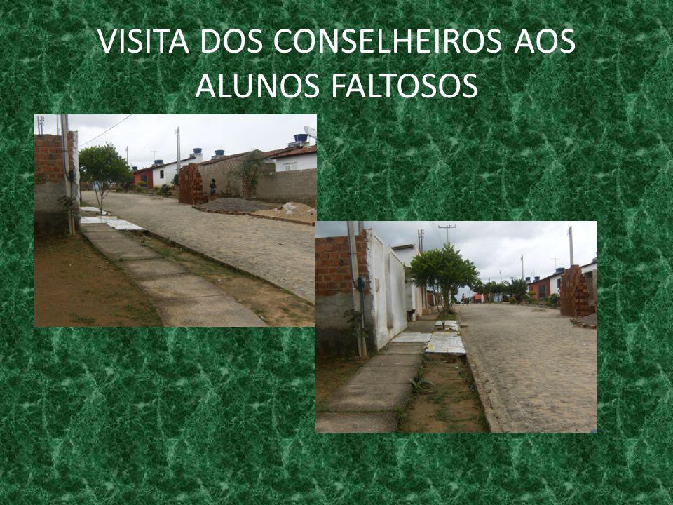 VISITA DOS CONSELHEIROS AOS ALUNOS FALTOSOS
