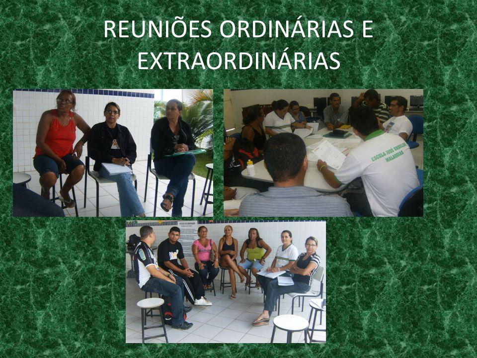 REUNIÕES ORDINÁRIAS E EXTRAORDINÁRIAS