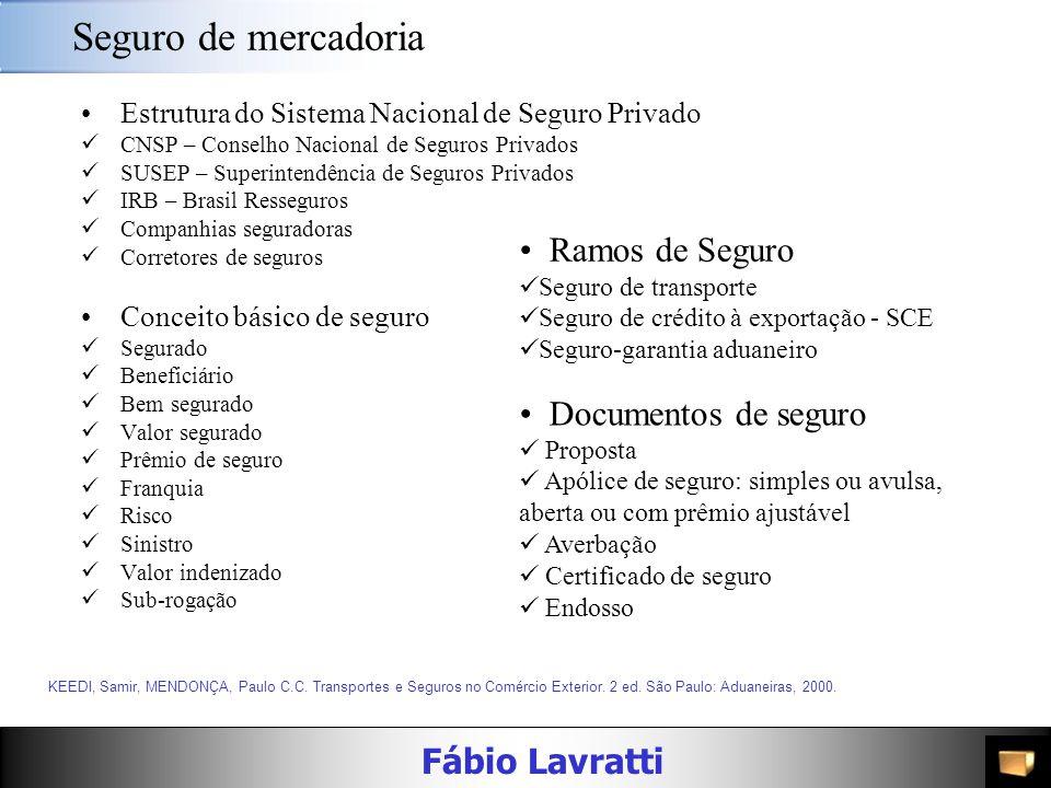 Seguro de mercadoria Ramos de Seguro Documentos de seguro
