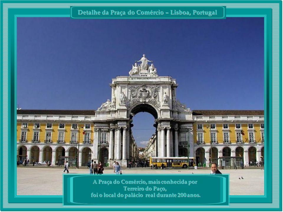 Detalhe da Praça do Comércio – Lisboa, Portugal
