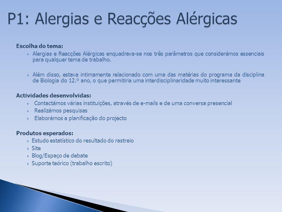 P1: Alergias e Reacções Alérgicas