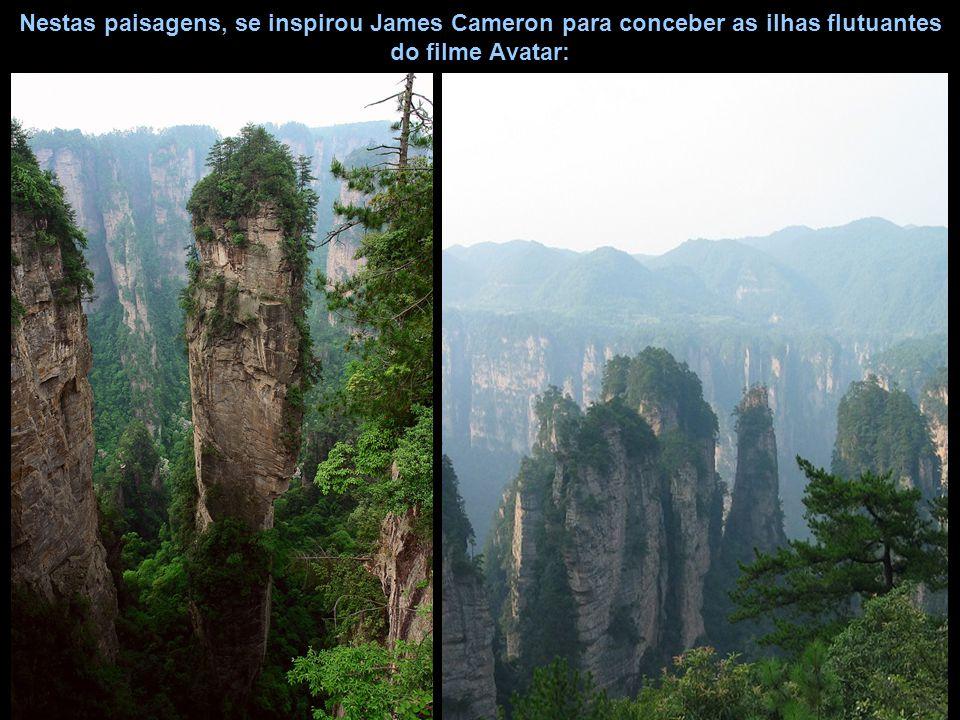 Nestas paisagens, se inspirou James Cameron para conceber as ilhas flutuantes do filme Avatar: