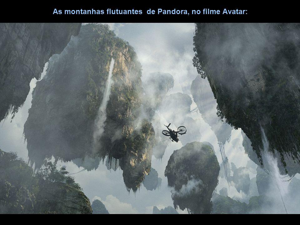 As montanhas flutuantes de Pandora, no filme Avatar: