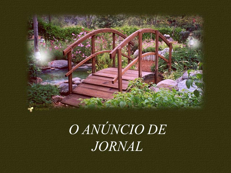 O ANÚNCIO DE JORNAL