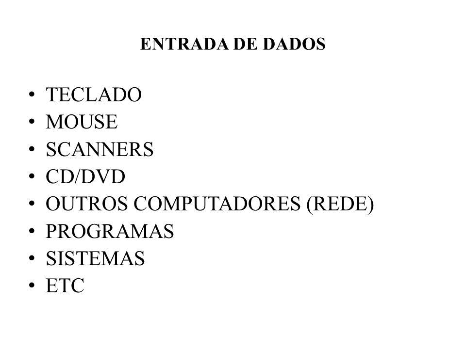 OUTROS COMPUTADORES (REDE) PROGRAMAS SISTEMAS ETC
