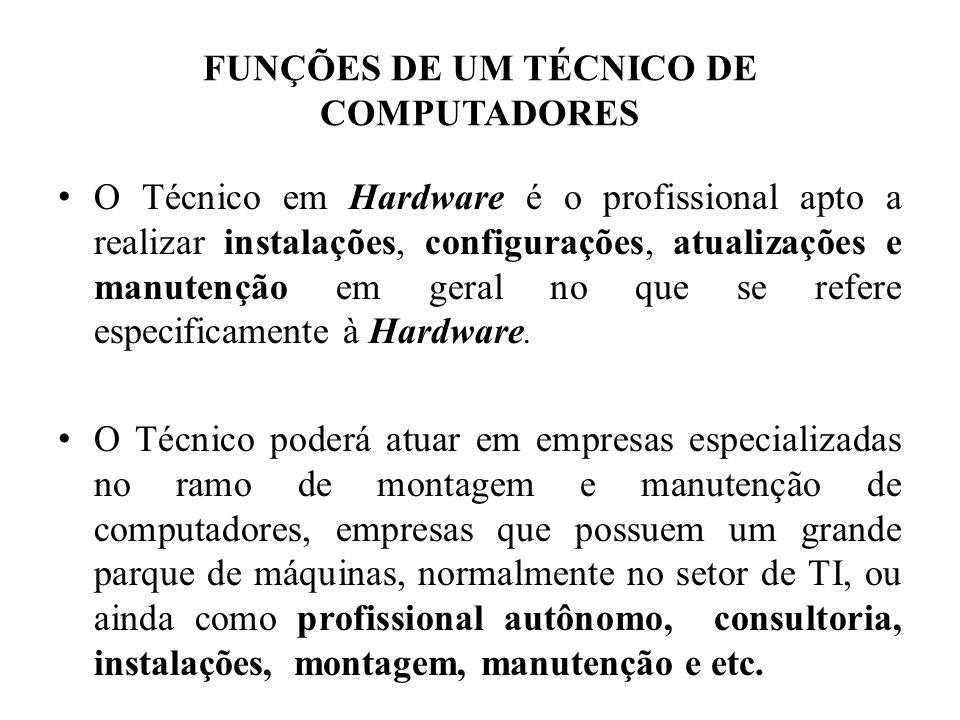 FUNÇÕES DE UM TÉCNICO DE COMPUTADORES