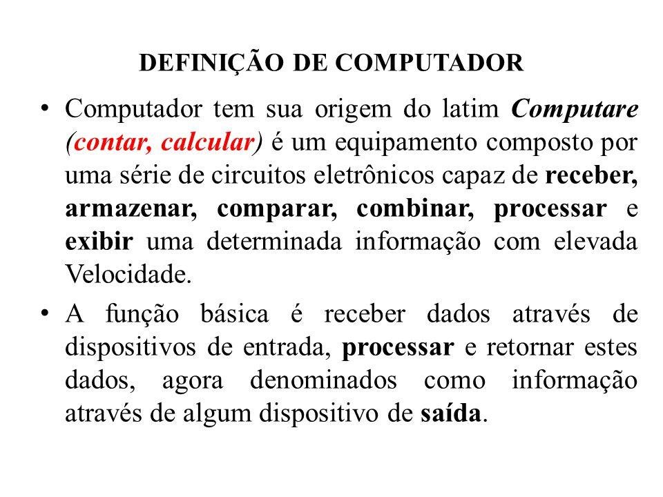 DEFINIÇÃO DE COMPUTADOR