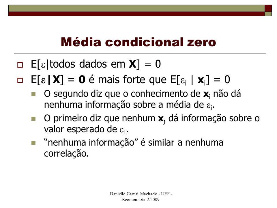 Média condicional zero