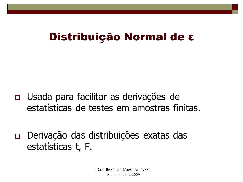 Distribuição Normal de ε