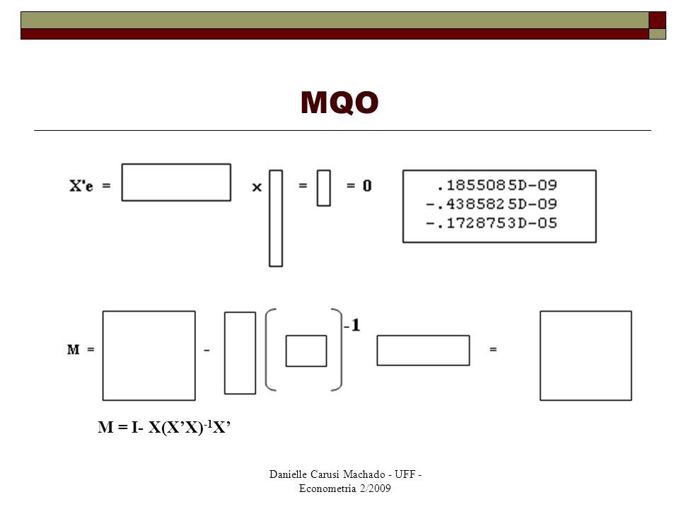 MQO M = I- X(X'X)-1X'