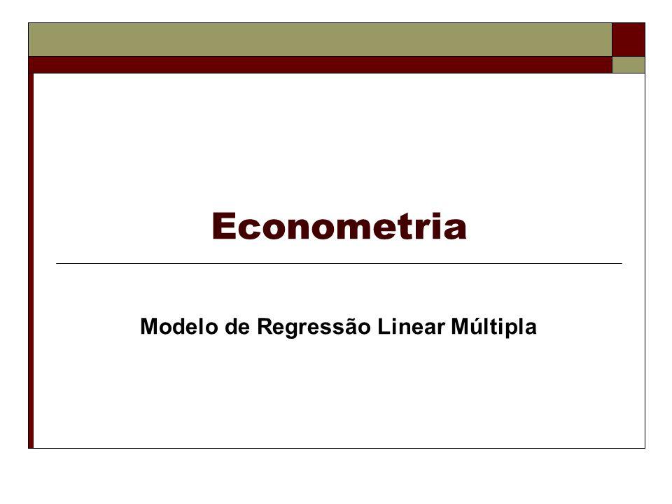 Exemplo da técnica MQO Modelo de Regressão Linear Múltipla