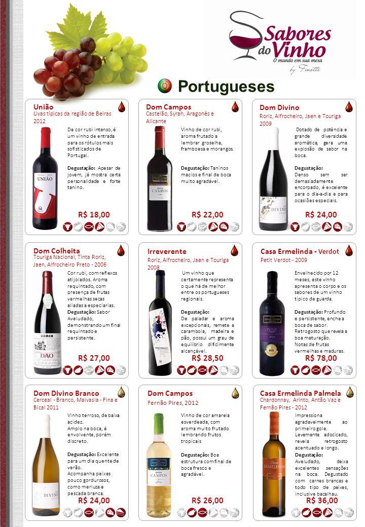 Portugueses R$ 18,00 R$ 22,00 R$ 24,00 R$ 27,00 R$ 28,50 R$ 78,00