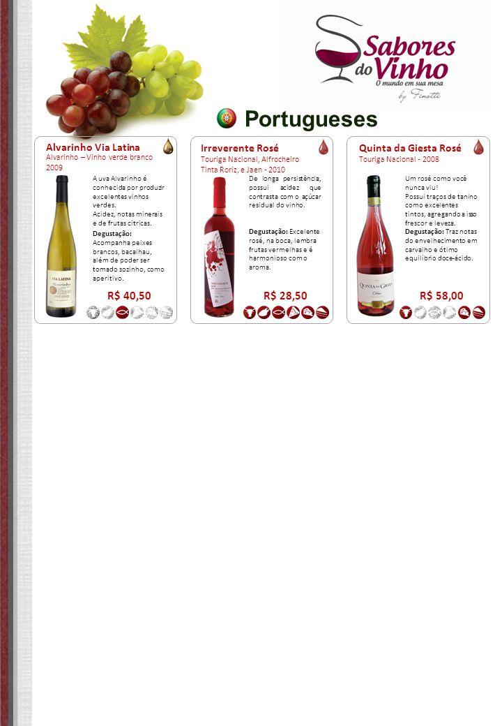 Portugueses R$ 40,50 R$ 28,50 R$ 58,00 Alvarinho Via Latina