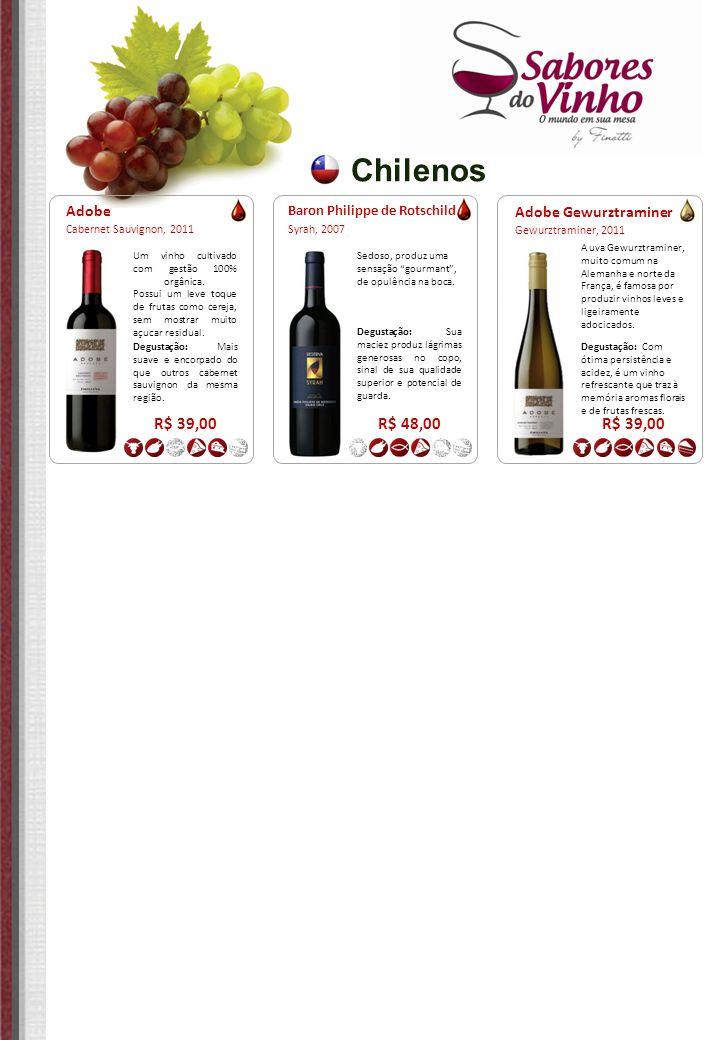 Chilenos R$ 39,00 R$ 48,00 R$ 39,00 Adobe Adobe Gewurztraminer