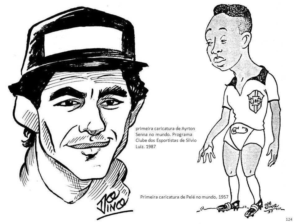 Primeira caricatura de Pelé no mundo, 1957