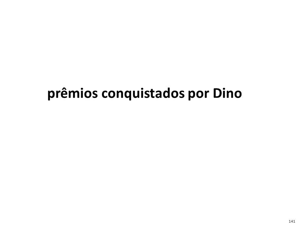 prêmios conquistados por Dino
