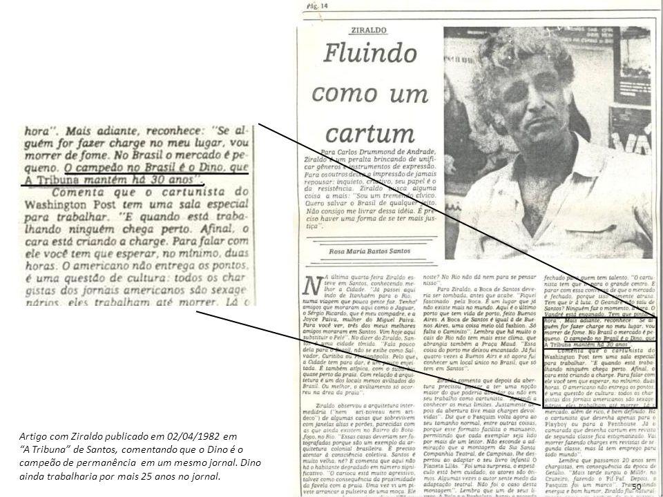 Artigo com Ziraldo publicado em 02/04/1982 em
