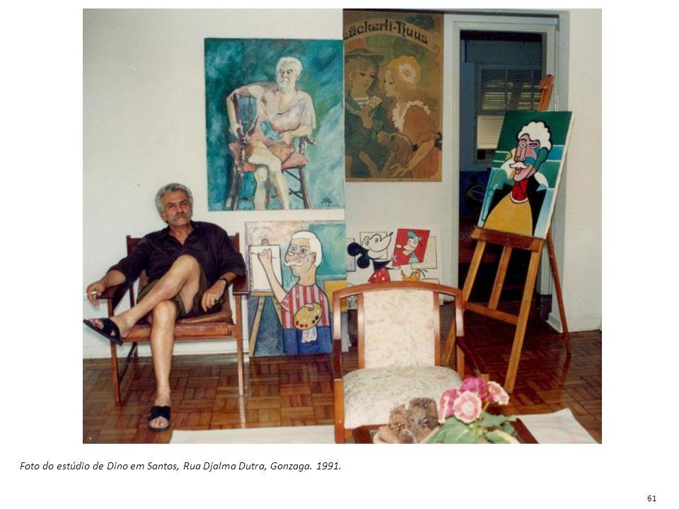 Foto do estúdio de Dino em Santos, Rua Djalma Dutra, Gonzaga. 1991.