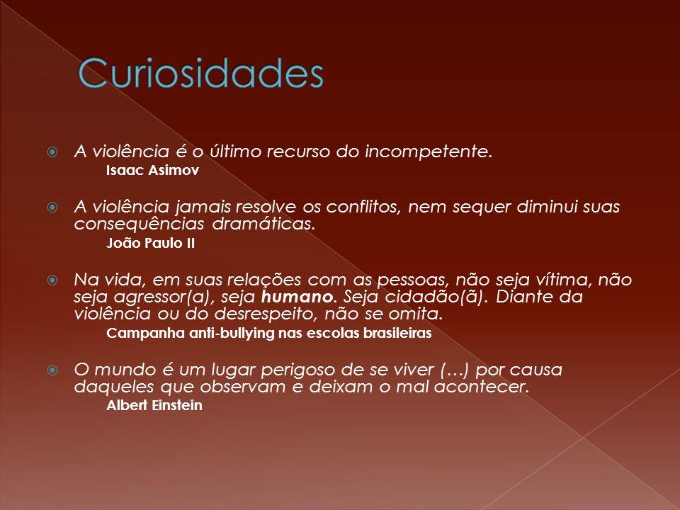 Curiosidades A violência é o último recurso do incompetente.