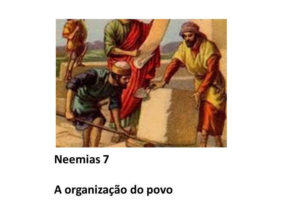 Neemias 7 A organização do povo