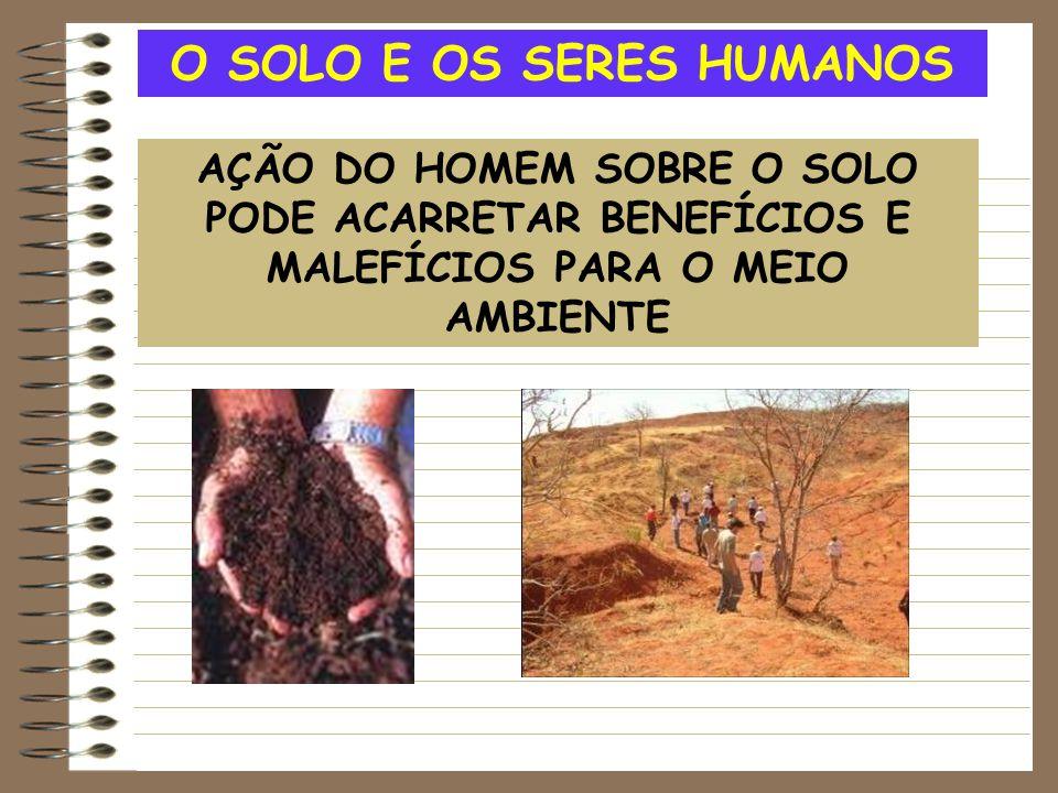 O SOLO E OS SERES HUMANOS