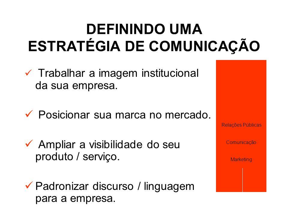 DEFININDO UMA ESTRATÉGIA DE COMUNICAÇÃO