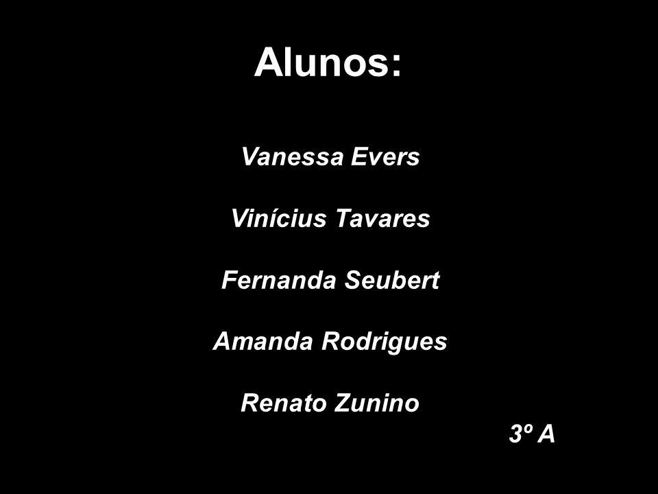 Alunos: Vanessa Evers Vinícius Tavares Fernanda Seubert