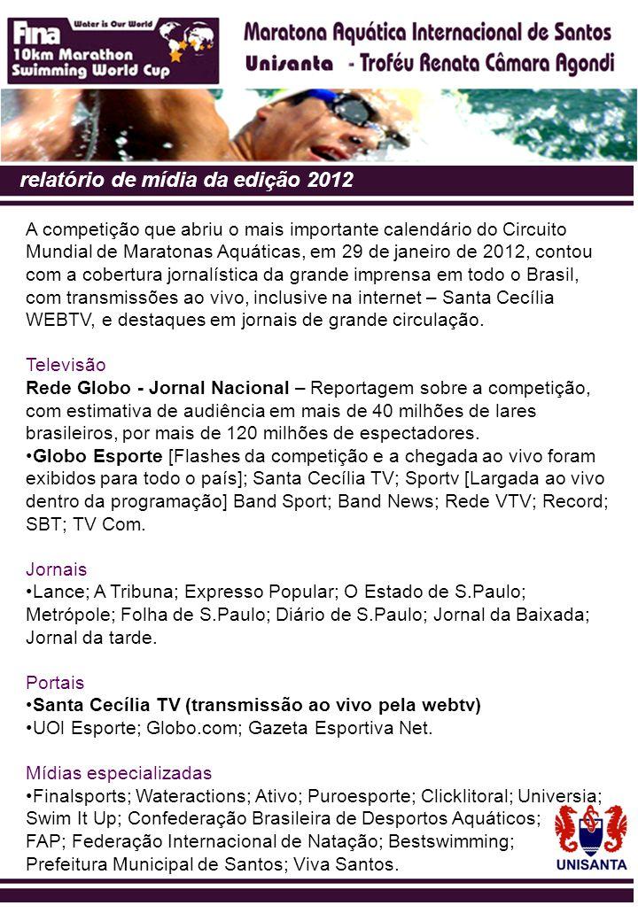 relatório de mídia da edição 2012