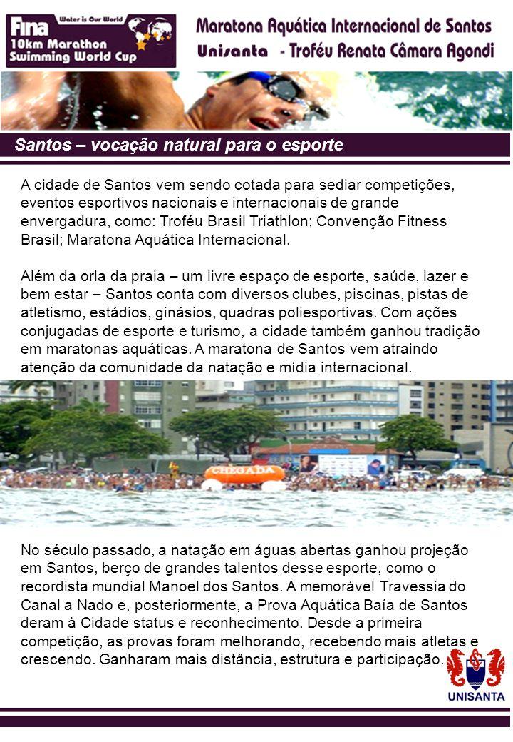 Santos – vocação natural para o esporte