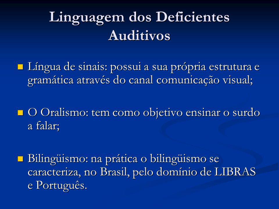 Linguagem dos Deficientes Auditivos