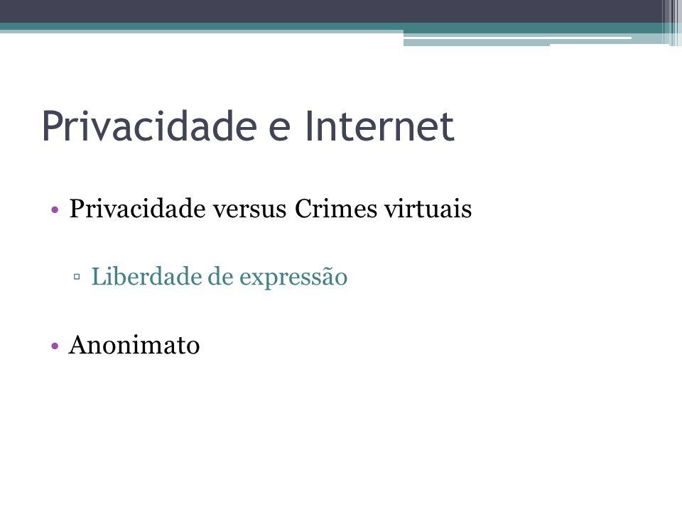 Privacidade e Internet