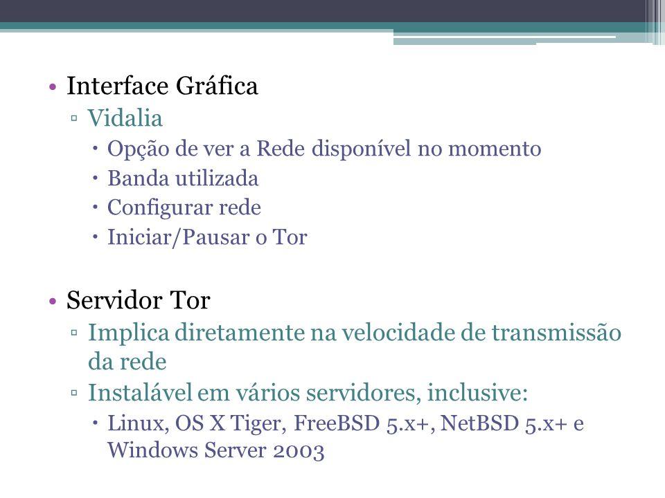 Interface Gráfica Servidor Tor Vidalia